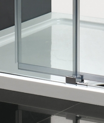 Aquatek - Nobel B2 - Luxusní sprchové dveře zasouvací s brzdou 117-121cm, sklo 8mm (NOBELB2120), fotografie 4/4