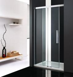 Aquatek - Nobel B2 - Luxusní sprchové dveře zasouvací s brzdou 122-126cm, sklo 8mm (NOBELB2125), fotografie 2/4