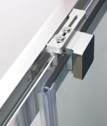 Aquatek - Nobel B2 - Luxusní sprchové dveře zasouvací s brzdou 137-141cm, sklo 8mm (NOBELB2140), fotografie 6/4