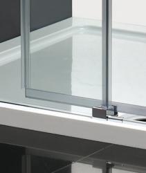 Aquatek - Nobel B2 - Luxusní sprchové dveře zasouvací s brzdou 137-141cm, sklo 8mm (NOBELB2140), fotografie 4/4