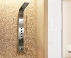 Aquatek - Tahiti Hydromasážní sprchový panel, způsob montáže do rohu, baterie termostatická (Tahiti-275)