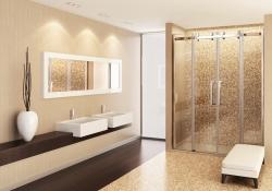 Aquatek - Tekno B4 - Luxusní sprchové dveře zasouvací 170-174 cm, sklo 8mm (TEKNOB4174), fotografie 2/4