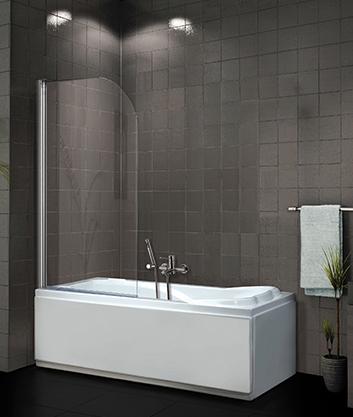 SANTECH ARIELA 80x140cm sklo bílá,dvoudílná