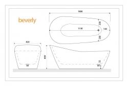 Aquatek - Volně stojící akrylátová vana BEVERLY 180x82 cm (BEVERLY), fotografie 8/4