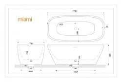 Aquatek - Volně stojící akrylátová vana MIAMI 170x78 cm (MIAMI), fotografie 4/2