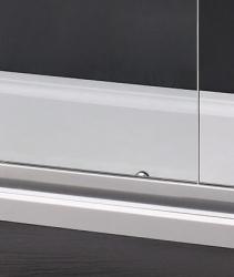 Aquatek - MASTER R33 Chrom Sprchová zástěna obdélníková 120x90cm, barva rámu bílá, výplň sklo - čiré (MASTERR33-166), fotografie 2/3