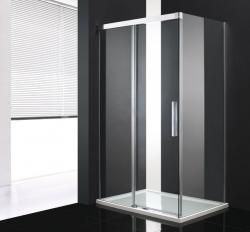 Aquatek - NOBEL R23 Chrom Luxusní sprchová zástěna obdélníková 120x80cm, sklo 8mm (NOBELR23), fotografie 2/4