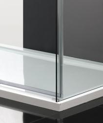 Aquatek - NOBEL R23 Chrom Luxusní sprchová zástěna obdélníková 120x80cm, sklo 8mm (NOBELR23), fotografie 4/4