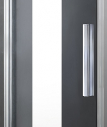Aquatek - NOBEL R23 Chrom Luxusní sprchová zástěna obdélníková 120x80cm, sklo 8mm (NOBELR23), fotografie 6/4