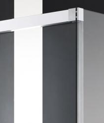 Aquatek - NOBEL R23 Chrom Luxusní sprchová zástěna obdélníková 120x80cm, sklo 8mm (NOBELR23), fotografie 8/4