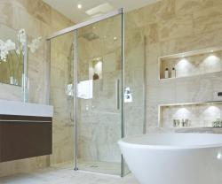 Aquatek - NOBEL R53 Chrom Luxusní sprchová zástěna obdélníková 140x90cm, sklo 8mm (NOBELR53), fotografie 2/4