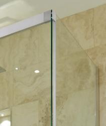 Aquatek - NOBEL R53 Chrom Luxusní sprchová zástěna obdélníková 140x90cm, sklo 8mm (NOBELR53), fotografie 8/4