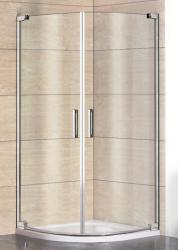 Aquatek - PARTY S2 90 cm CHROM Luxusní sprchová zástěna čiré sklo 8mm (PARTYS2)