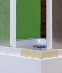 Aquatek - ROYAL A4 Sprchová zástěna čtvercová 80x80cm, plast (ROYALA480), fotografie 2/4