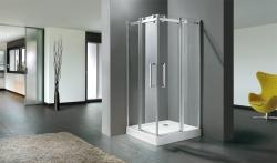 Aquatek - TEKNO A4 90 cm CHROM Sprchová zástěna čiré sklo, 8mm, výška 195 cm (TEKNOA4-10), fotografie 2/4