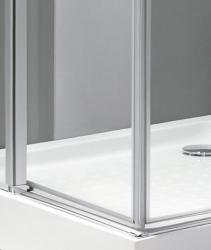 Aquatek - TEKNO A4 90 cm CHROM Sprchová zástěna čiré sklo, 8mm, výška 195 cm (TEKNOA4-10), fotografie 6/4