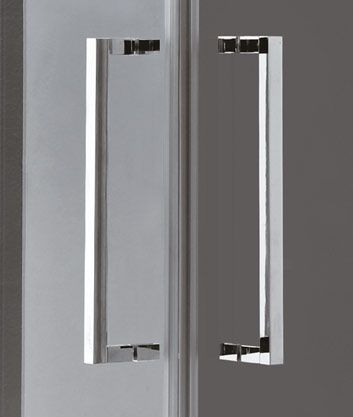 Aquatek - TEKNO A4 90 cm CHROM Sprchová zástěna čiré sklo, 8mm, výška 195 cm (TEKNOA4-10)