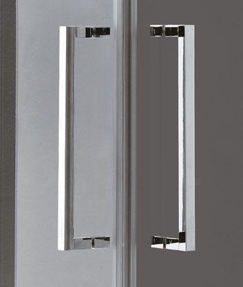 Aquatek - TEKNO A4 90 cm CHROM Sprchová zástěna čiré sklo, 8mm, výška 210 cm (TEKNOA4-11)