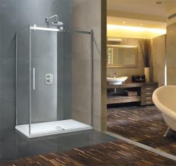 Aquatek - TEKNO R43 Chrom Luxusní sprchová zástěna obdélníková 140x80cm, sklo 8mm, varianta pravá (TEKNOR43-12), fotografie 8/4