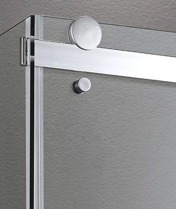 Aquatek - TEKNO R53 Chrom Luxusní sprchová zástěna obdélníková 140x90cm, sklo 8mm, varianta levá (TEKNOR53-13)