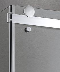Aquatek - TEKNO R53 Chrom Luxusní sprchová zástěna obdélníková 140x90cm, sklo 8mm, varianta levá (TEKNOR53-13), fotografie 6/4