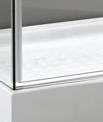 Aquatek - TEKNO R63 Chrom Luxusní sprchová zástěna obdélníková 160x90cm, sklo 8mm, varianta levá (TEKNOR63-13), fotografie 4/4