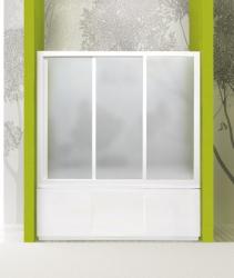 Vanová zástěna ROYAL V3 151-160cm, výplň sklo - grape (ROYALV3160-19) - Aquatek