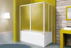 Aquatek - Vanová zástěna včetně bočního dílu ROYAL VA4 180cm, výplň Krilex (ROYALVA4180), fotografie 2/4
