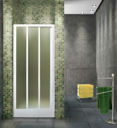 Aquatek - ROYAL B3 - Sprchové dveře zasouvací 100-110cm, výplň plast - voda (ROYALB3110-20)