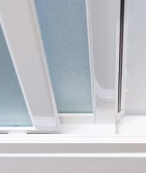 Aquatek - ROYAL B3 - Sprchové dveře zasouvací 120-130cm, výplň sklo - grape (ROYALB3130-19), fotografie 2/4