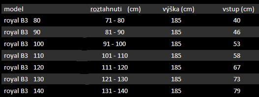 Aquatek - ROYAL B3 - Sprchové dveře zasouvací 90-100cm, výplň sklo - grape (ROYALB3100-19)