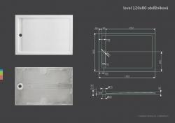 Aquatek - LEVEL 120x80 sprchová vanička z litého mramoru obdélníková (LEVEL12080), fotografie 4/2
