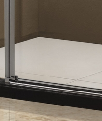 Aquatek - Tekno B2 - Luxusní sprchové dveře zasouvací 141-145 cm, sklo 8mm, výška 195 cm (TEKNOB2145-10), fotografie 6/3