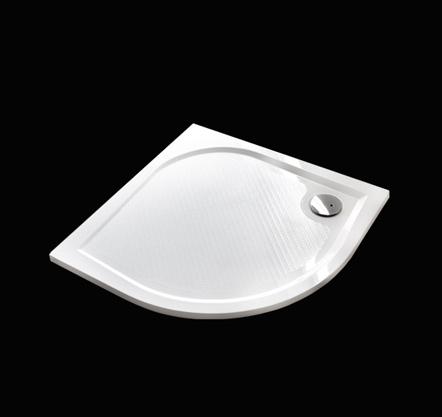 Aquatek - Bent 80 sprchová vanička z litého mramoru čtvrtkruhová s protiskluzovou úpravou (BENT80)