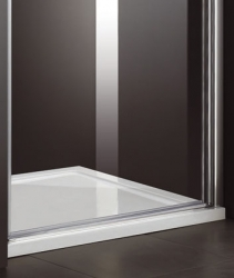 Aquatek - Glass B1 100 sprchové dveře do niky jednokřídlé 96-100cm, barva rámu bílá, výplň sklo - čiré (GLASSB1100-166), fotografie 4/6