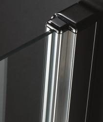 Aquatek - Glass B1 80 sprchové dveře do niky jednokřídlé 76-80cm, barva rámu bílá, výplň sklo - čiré (GLASSB180-166), fotografie 2/6