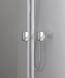 Aquatek - Glass B2 85 sprchové dveře do niky dvoukřídlé 82-86cm, barva rámu bílá, výplň sklo - čiré (GLASSB285-166), fotografie 16/9