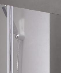 Aquatek - Glass B2 85 sprchové dveře do niky dvoukřídlé 82-86cm, barva rámu bílá, výplň sklo - čiré (GLASSB285-166), fotografie 2/9