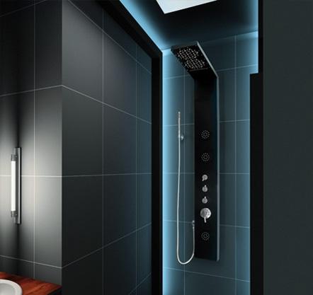 Aquatek - Hawai Hydromasážní sprchový panel s vodopádem, baterie termostatická, způsob montáže na zeď (Hawai-256)