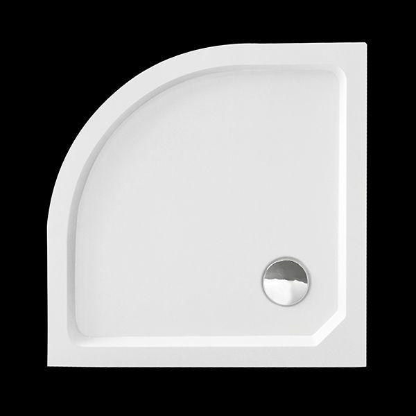 Aquatek - SMC MAXI 80x80cm sprchová vanička z tvrzeného polymeru čtvrtkruhová (SMCMAXI80)