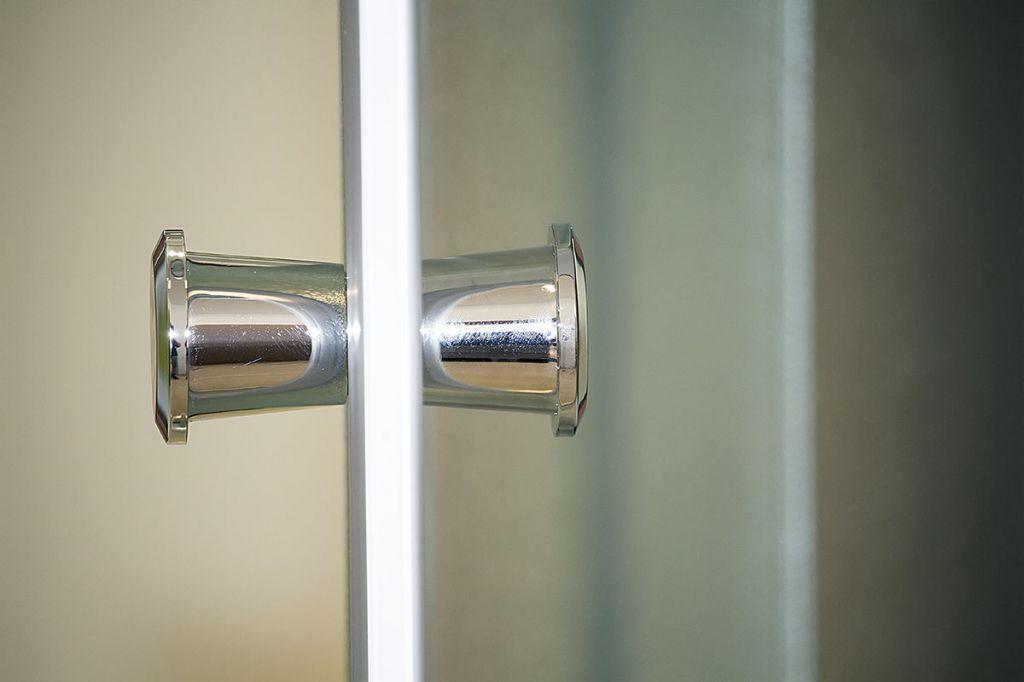 Aquatek - Sprchová zástěna Family S4 90 cm CHROM, výplň sklo - grape (FAMILYS490-19)