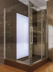 Aquatek - ADMIRAL R33 Chrom Luxusní sprchová zástěna obdélníková 120x90cm, sklo 8mm (ADMIRALR33)