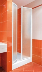 Aquatek - LUX B2 90 - Sprchové dveře dvoukřídlé 86- 91 cm, výplň plast - voda (LUXB290-20)