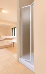 Aquatek - LUX B6 90 - Sprchové dveře zalamovací 86 - 91 cm, výplň sklo - grape (LUXB690-19)