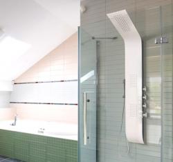 Aquatek - Tenerife Hydromasážní sprchový panel, baterie termostatická (Tenerife-25)