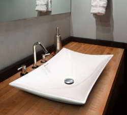 KERR keramické umyvadlo 57,5 x 38,5 x 12,5 cm (KERR) - Aquatek
