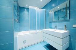 Aquatek - Vanová zástěna trojdílná LUX L3 140x140cm, výplň plast - voda (LUXL3-20)