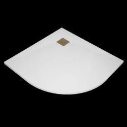 Aquatek - SMC GLOSSY 90x90cm sprchová vanička z tvrzeného polymeru čtvrtkruhová (SMCGLOSSY90OBL)