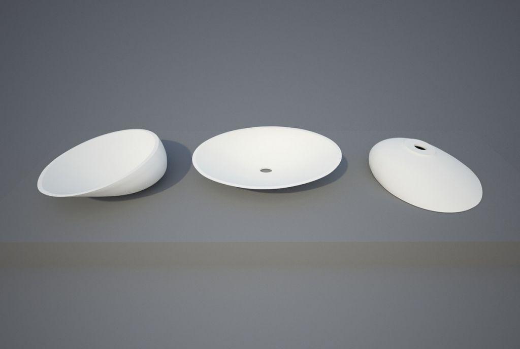 Aquatek - EGG umyvadlo z litého mramoru 54 x 43 x 15,7 cm (EGG)