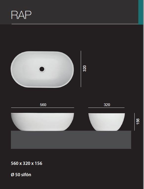 Aquatek - RAP oválné umyvadlo 56 x 32 x 15,6 cm (RAP)